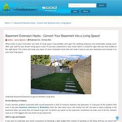 Basement Extension Hacks - Convert Your Basement into a Living Space!