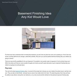 basement finish Denver