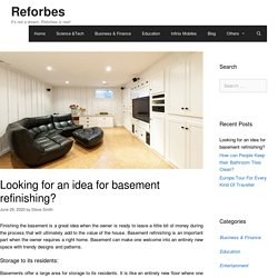 Looking for an idea for basement refinishing? - Reforbes