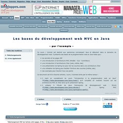 Les bases du développement web MVC en Java - par l'exemple -