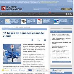 11 bases de données en mode cloud