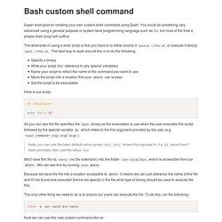 Bash custom shell command