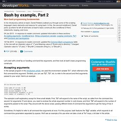 Bash by example, Part 2
