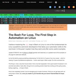 The Bash For Loop, The First Step in Automation on Linux