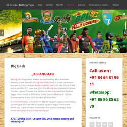 BBL big bash league tips - BIg Bash cricket tips