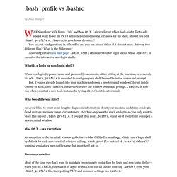 .bash_profile vs .bashrc