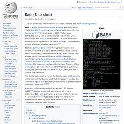 Bash (Unix shell)
