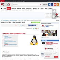Bash - La variable d'environnement PATH