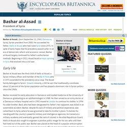 president of Syria