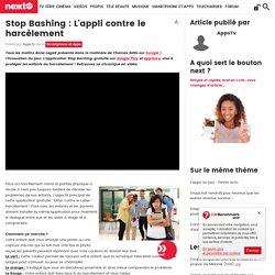 Stop Bashing : L'appli contre le harcèlement