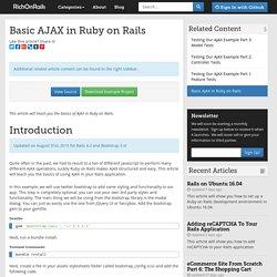 Basic AJAX in Ruby on Rails - RichOnRails.com