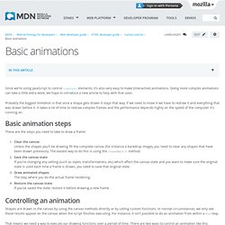 Basic animations - MDN Docs