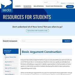 Basic Argument Construction