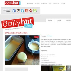 DIY Basic Body Butter Bars