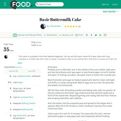 Basic Buttermilk Cake Recipe