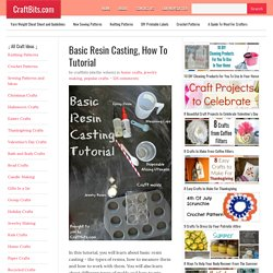 Basic Resin Casting - Home Crafts - craftbits.com