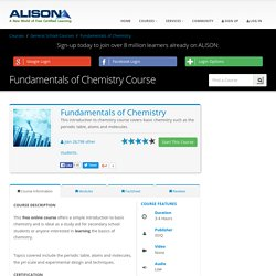 Basic Chemistry – Introduction to Chemistry