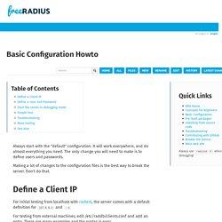 Basic Configuration Howto