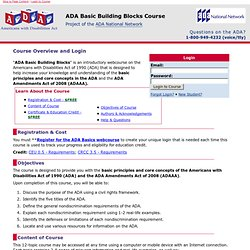 ADA Basic   Course Index