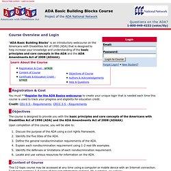 ADA Basic  Course Index