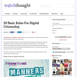 20 Basic Rules For Digital Citizenship