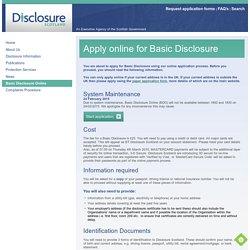 Basic Disclosure Online