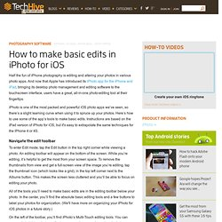 How to make basic edits in iPhoto for iOS