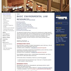 Basic Environmental Law Resources