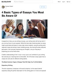 4 Basic Types of Essays You Must Be Aware Of