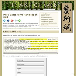 Basic Form Handling in PHP < PHP