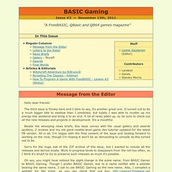 BASIC Gaming - Issue #3