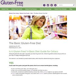 The Basic Gluten-Free Diet - Gluten-Free Living
