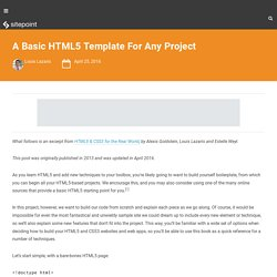 A Basic HTML5 Template For Any Project