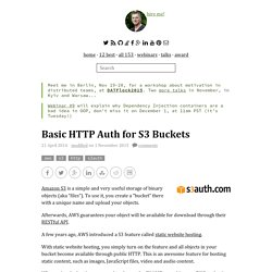 Basic HTTP Auth for S3 Buckets