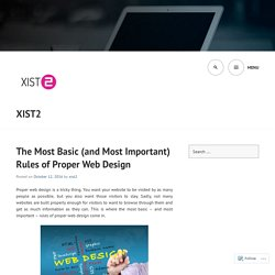 The Most Basic (and Most Important) Rules of Proper Web Design