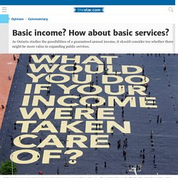 Basic income? How about basic services?