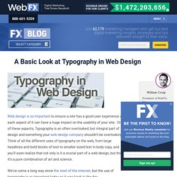 A Basic Look at Typography in Web Design