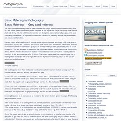 Basic metering in photography