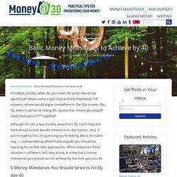 5 Basic Money Milestones to Achieve by 40