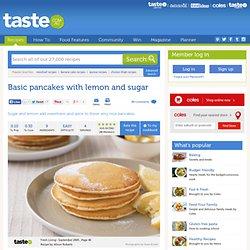 Basic Pancakes With Lemon And Sugar Recipe