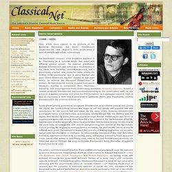Basic Repertoire List - Shostakovich