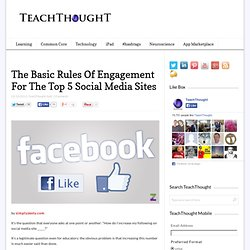 The Basic Rules Of Engagement For The Top 5 Social Media Sites