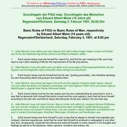 Basic Rules of FIGU or Basic Rules of Man