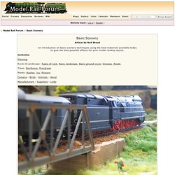 Basic Scenery - Model Rail Forum