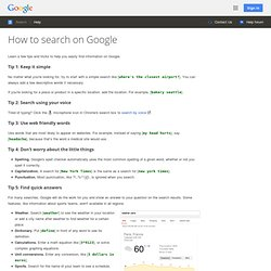 Basic search help : Google search basics - Web Search Help