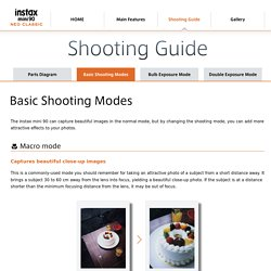 Basic Shooting Modes: Shooting Guide: instax mini 90