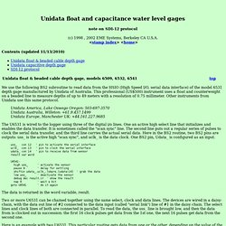 OWL2/BASIC Stamp to Unidata water level & SDI-12