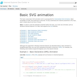 Basic SVG animation
