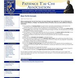 Basic Tai Chi Concepts