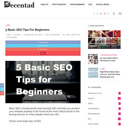 5 Basic SEO Tips for Beginners: SEO Tips - Decentad